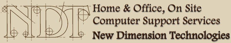 New Dimension Technologies of Gig Harbor - Home & Office, on site computer support repair services